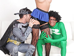 Watch Super Ramon in action with Isabella Cruz in this hardcore threesome tranny pounding scene!